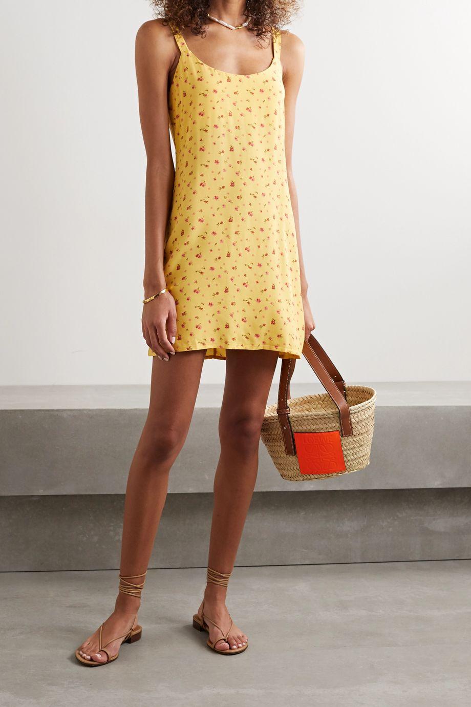 Reformation Puglia floral-print crepe mini dress