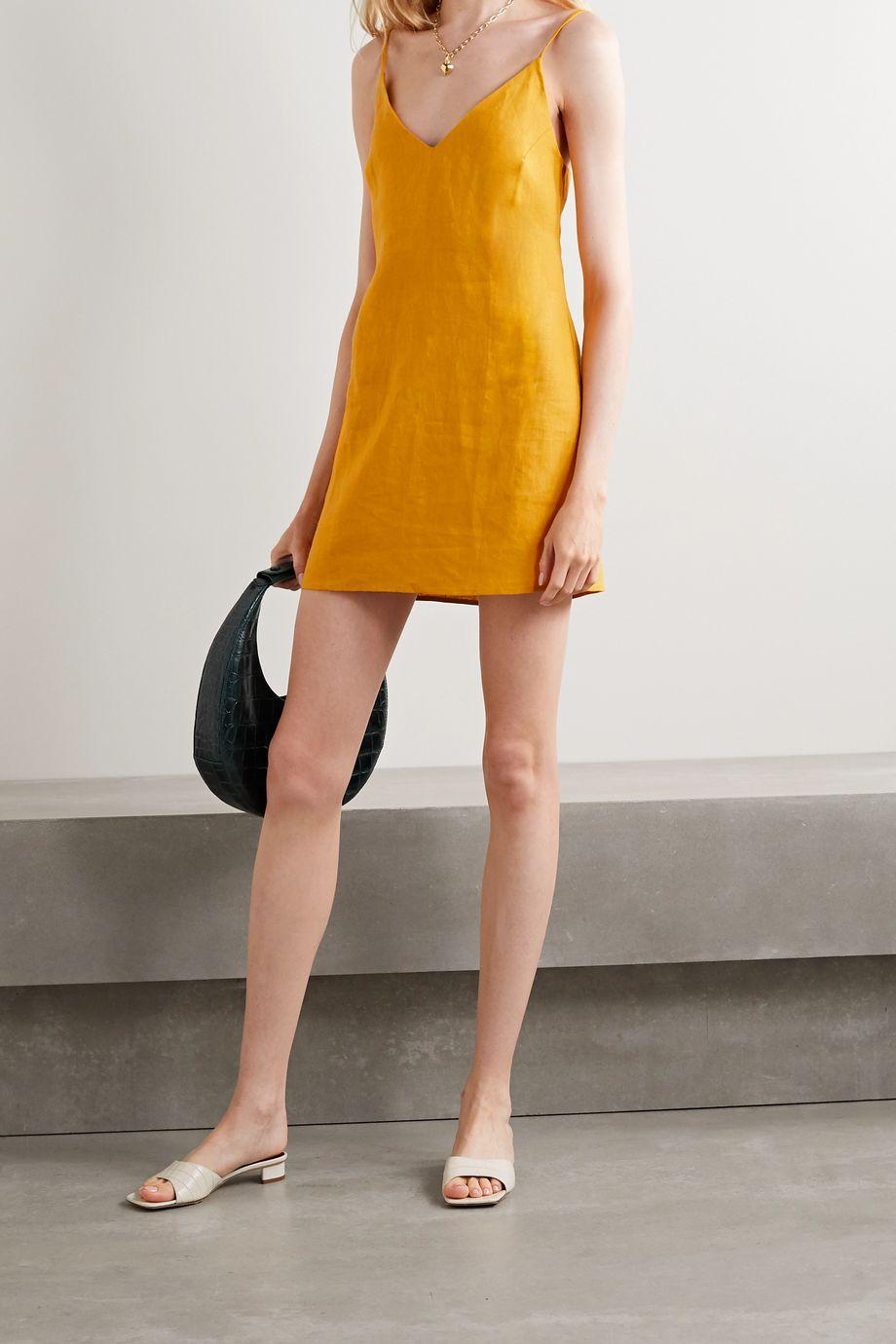 Reformation Riverside linen mini dress
