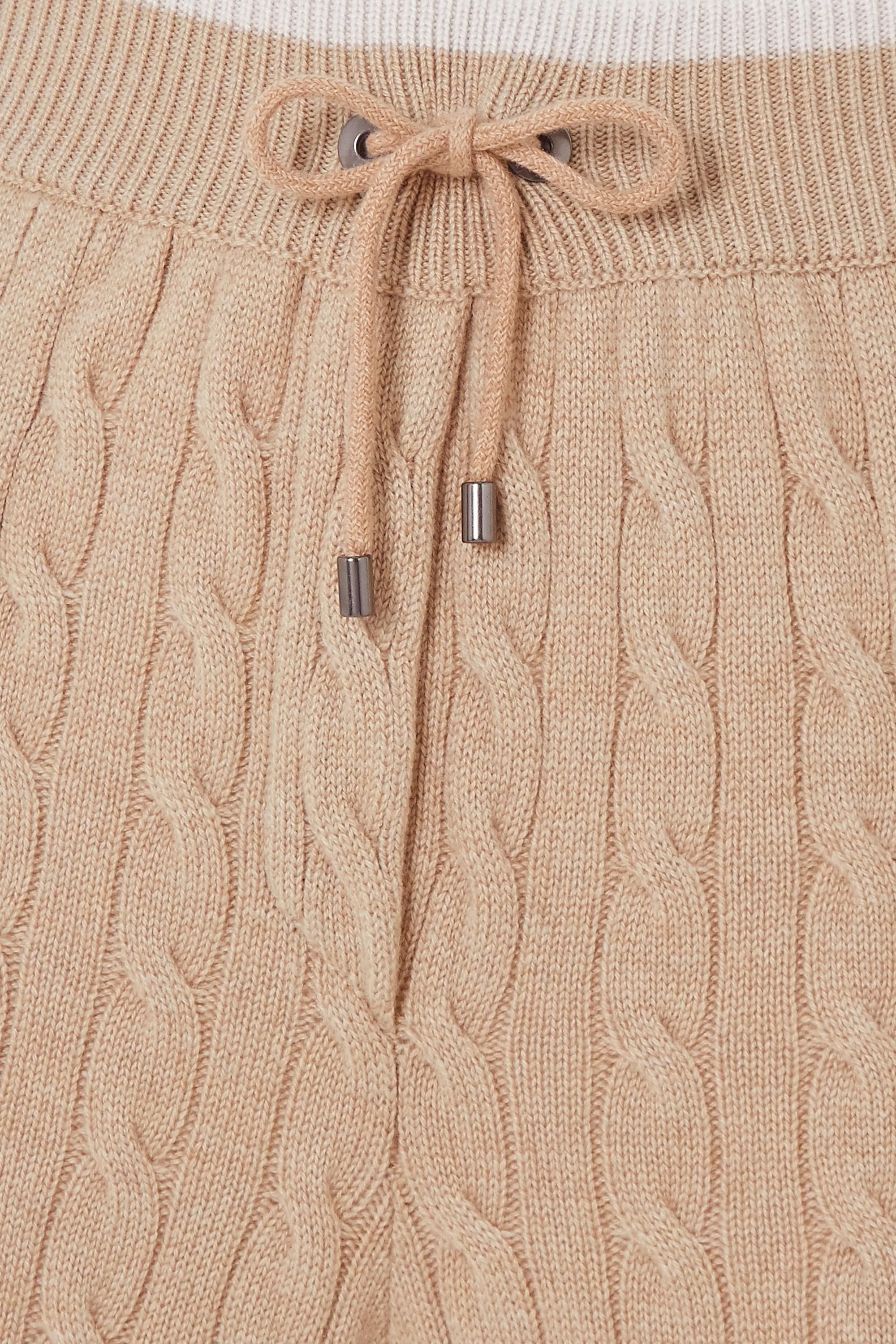 Brunello Cucinelli 缀饰绞花针织羊绒休闲裤