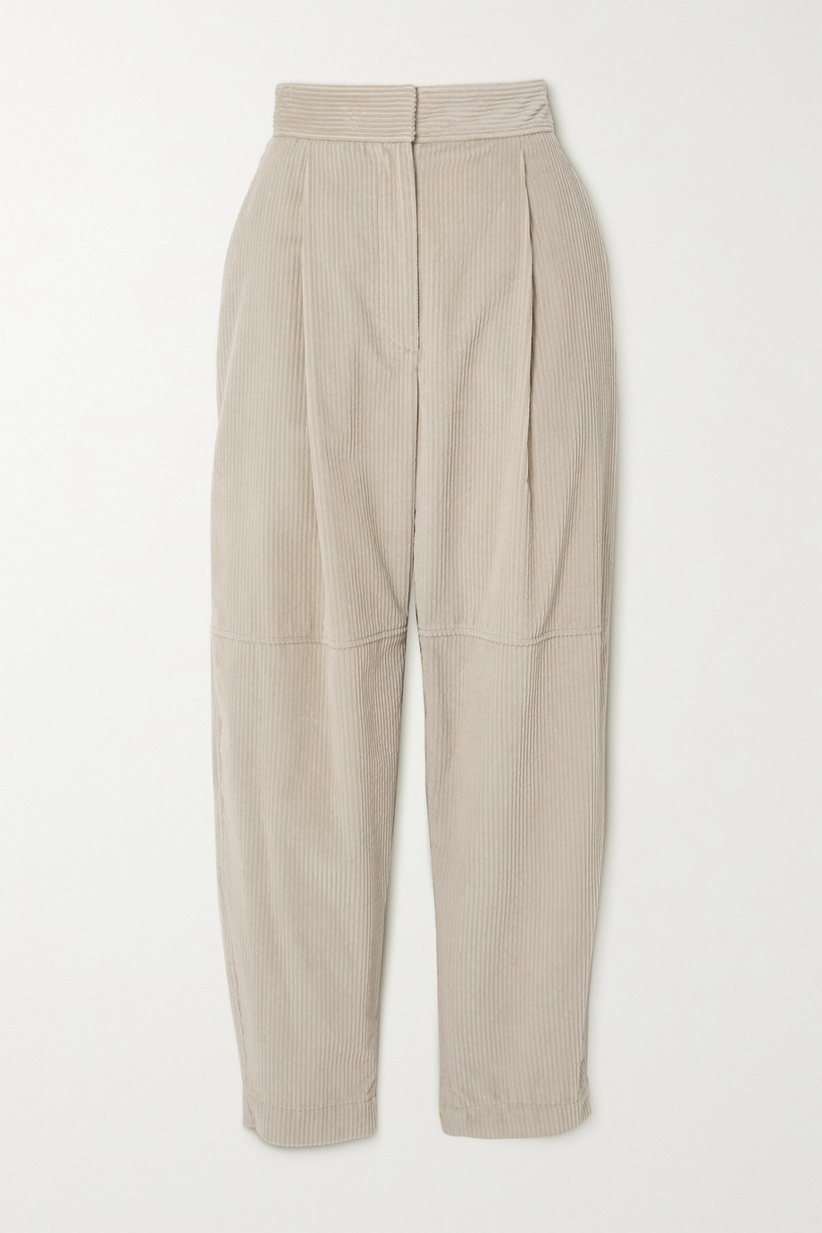Brunello Cucinelli Pleated cotton-corduroy tapered pants