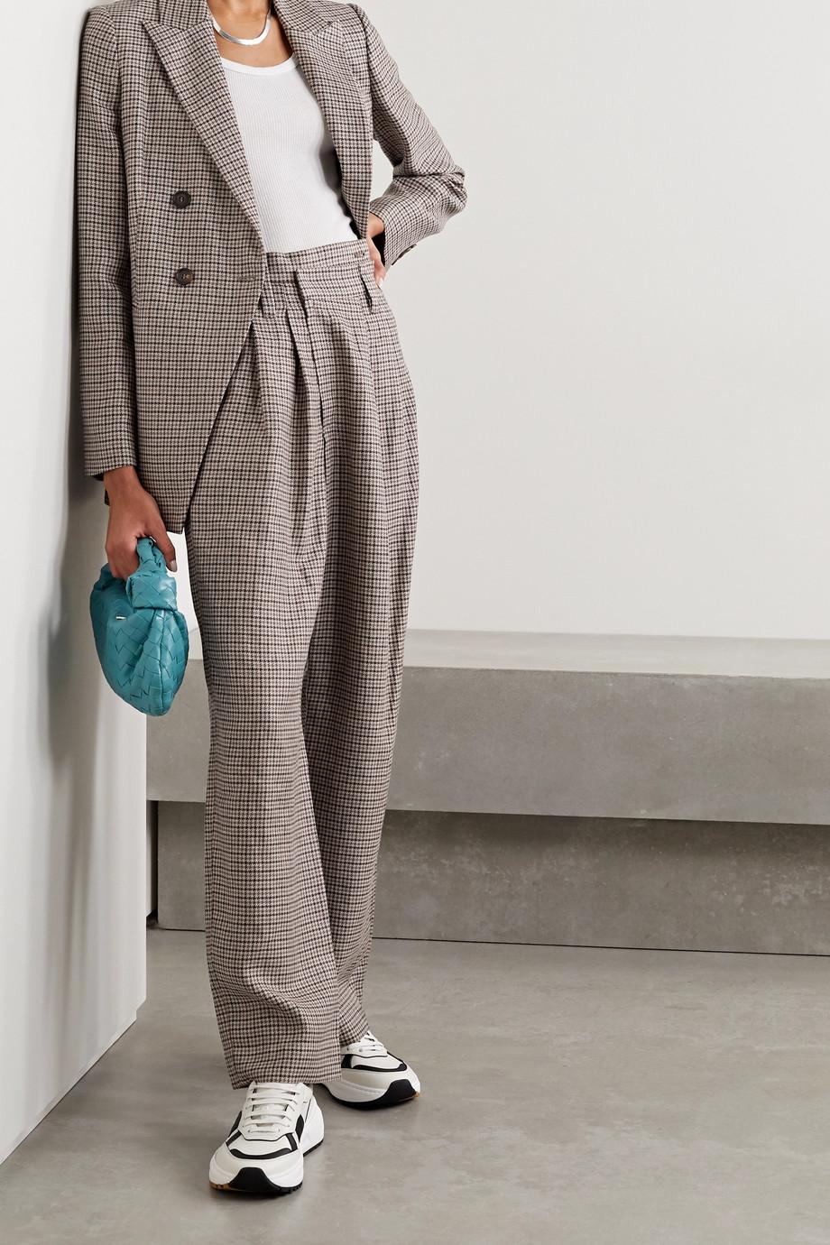 Brunello Cucinelli Houndstooth linen, wool and silk-blend blazer