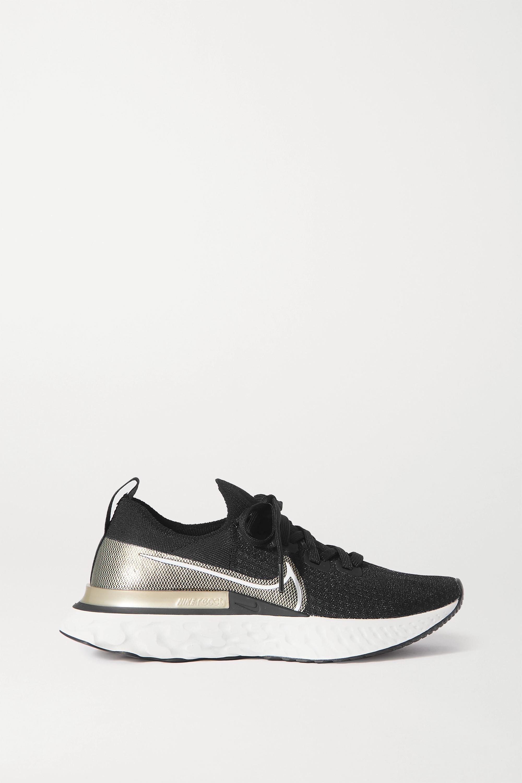 Nike React Infinity Run Premium metallic Flyknit sneakers