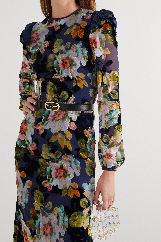 Rodarte Ruffled floral-print devoré-chiffon midi dress