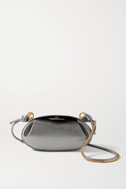 Yuzefi Dinner Roll metallic leather shoulder bag