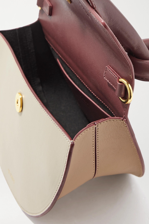 Yuzefi Dolores knotted color-block leather shoulder bag