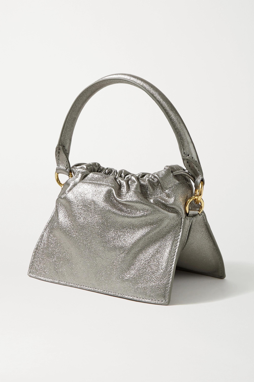 Yuzefi Bom mini metallic leather tote
