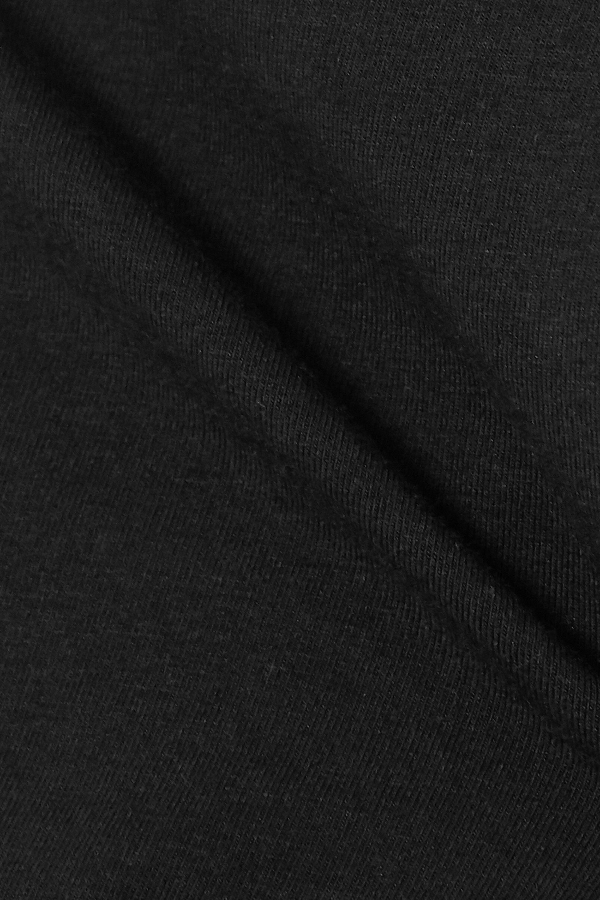 Black Clio Cropped Stretch Organic Pima Cotton-jersey Top | Skin