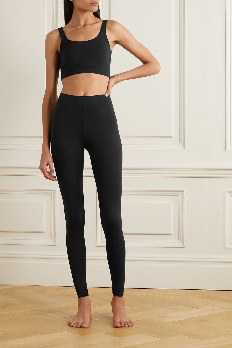 Skin Calypso 弹力有机比马棉平纹布紧身运动裤
