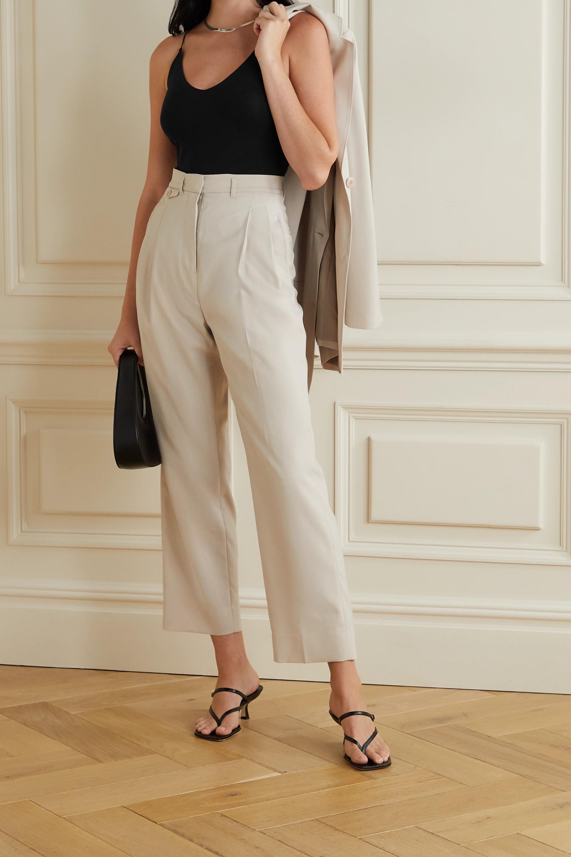 Skin Gilda 不对称有机比马棉质混纺平纹布连体丁字裤式紧身衣