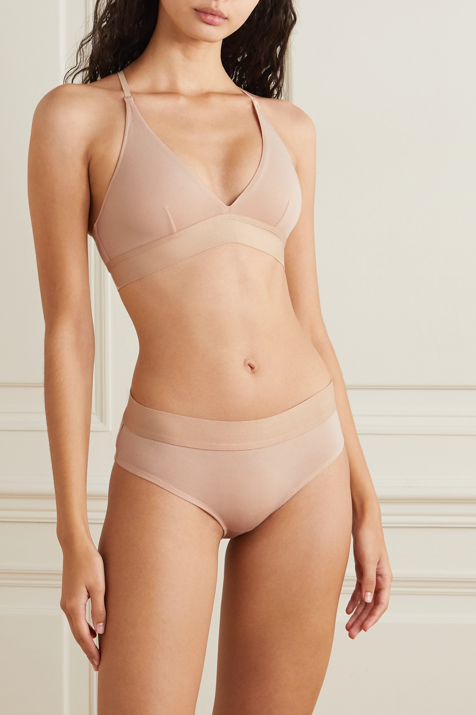 Skin Hadlee stretch organic Pima cotton-jersey soft-cup triangle bra