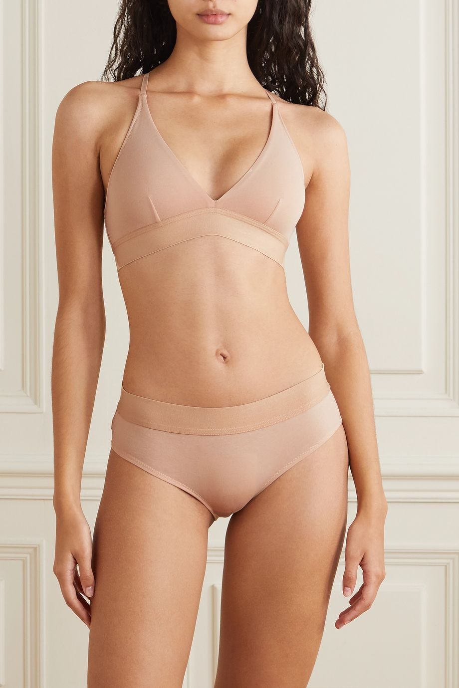 Skin Hadlee stretch organic Pima cotton-jersey briefs