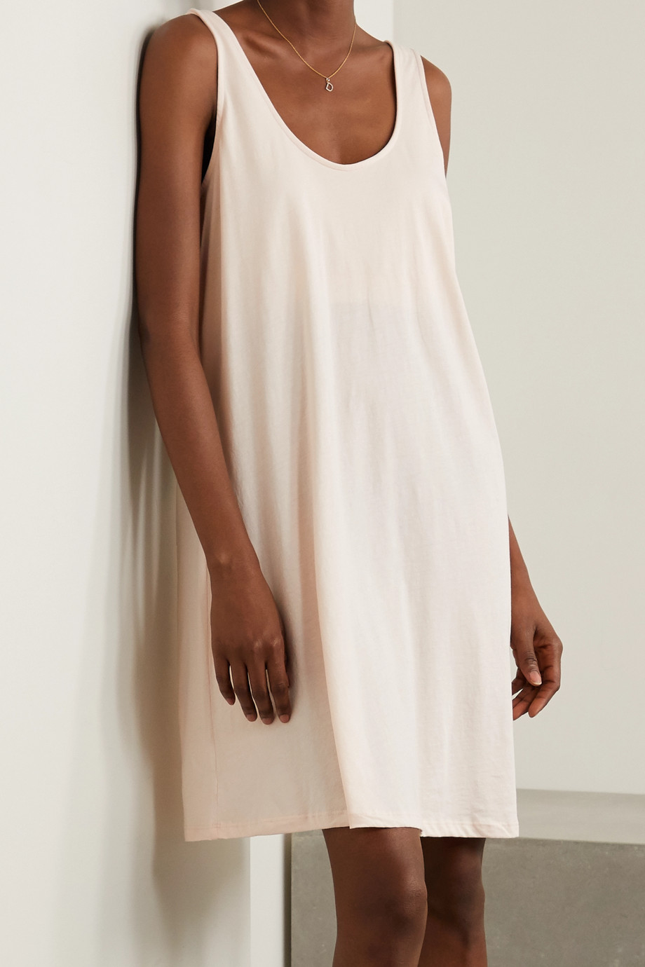 Skin Catherine Pima cotton-jersey nightdress