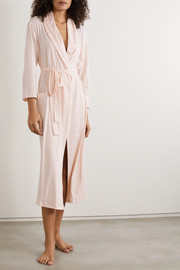Skin Carina belted Pima cotton-jersey robe