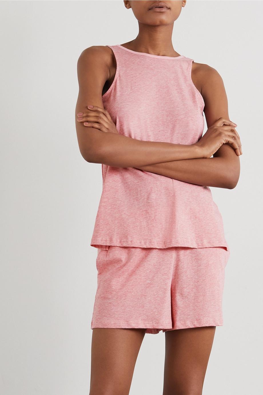 Skin Carlee mélange Pima cotton-jersey shorts