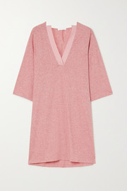 Skin Carolyn mélange Pima cotton-jersey nightdress