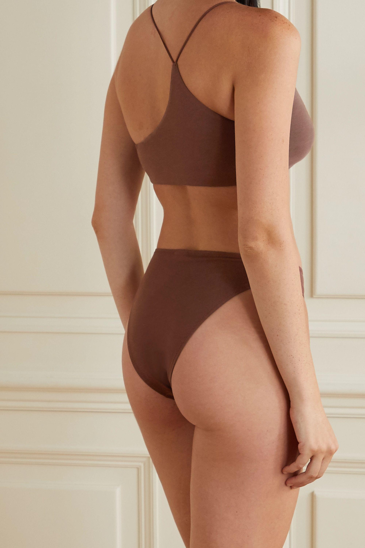 Brown Galen Organic Pima Cotton-blend Jersey Briefs | Skin
