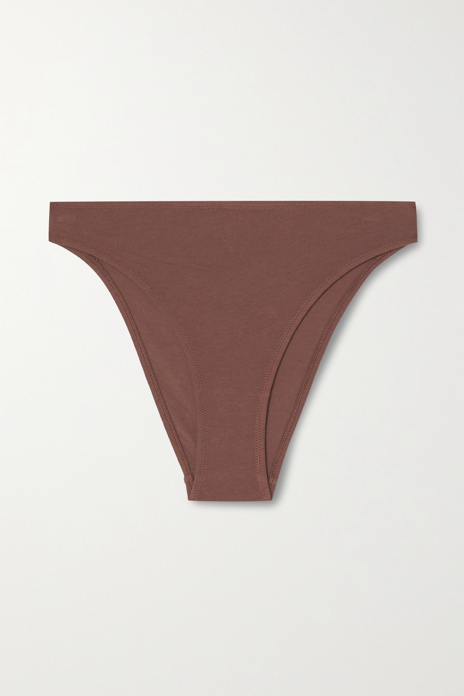 Skin Galen 有机比马棉质混纺平纹布三角裤