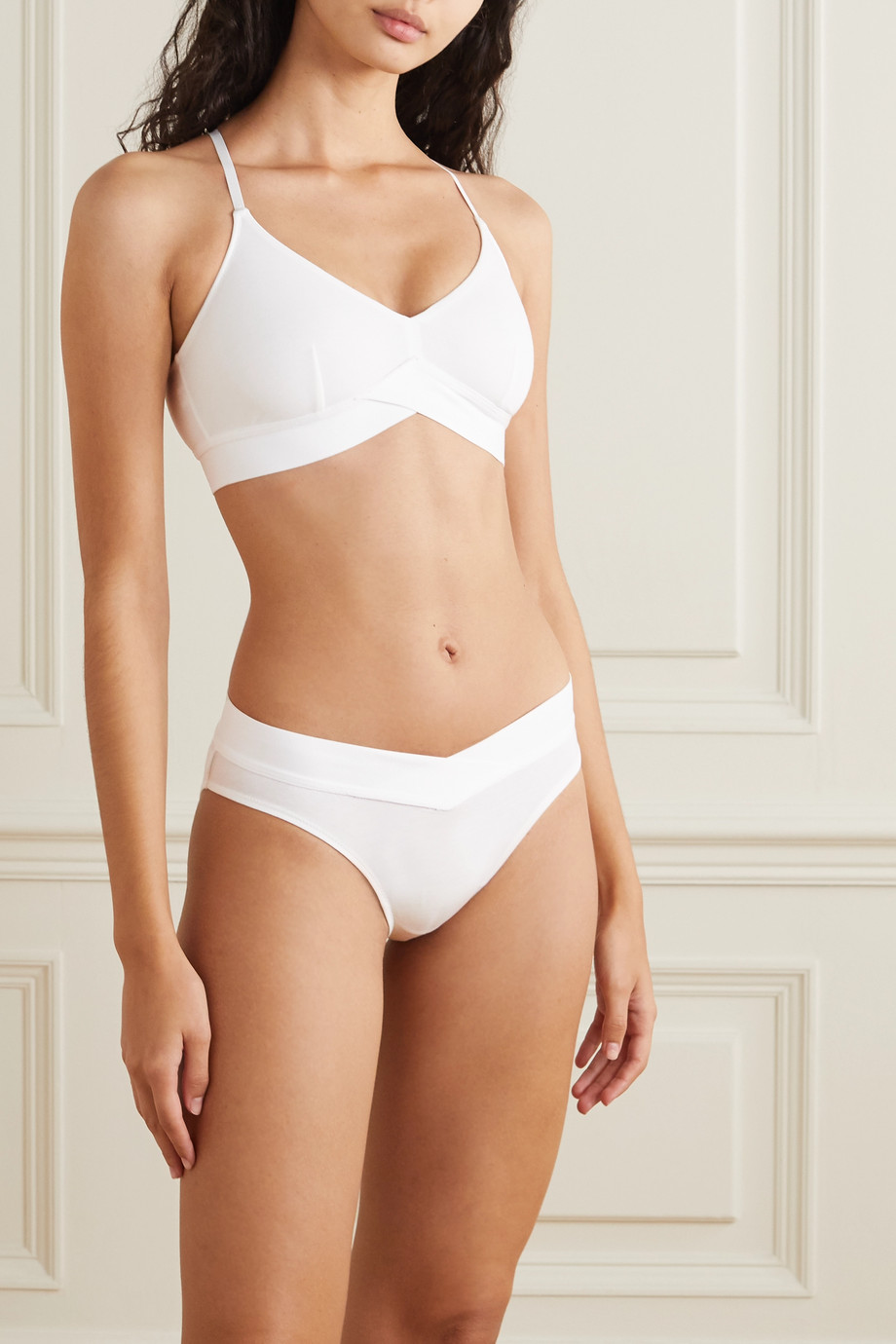 Skin Harper stretch organic Pima cotton-jersey soft-cup bra