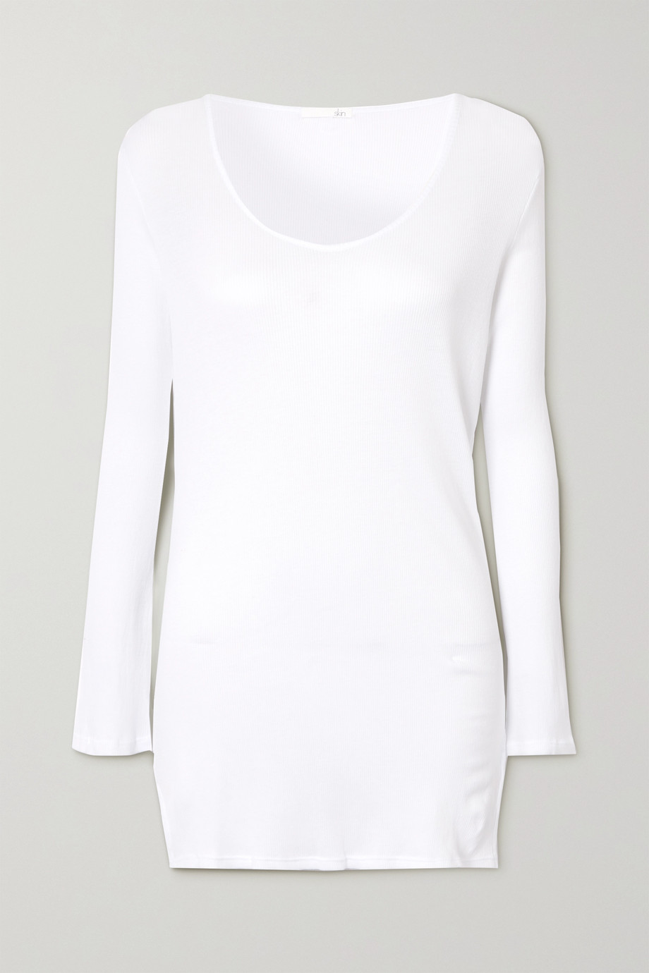 Skin Romina ribbed organic Pima cotton-jersey top