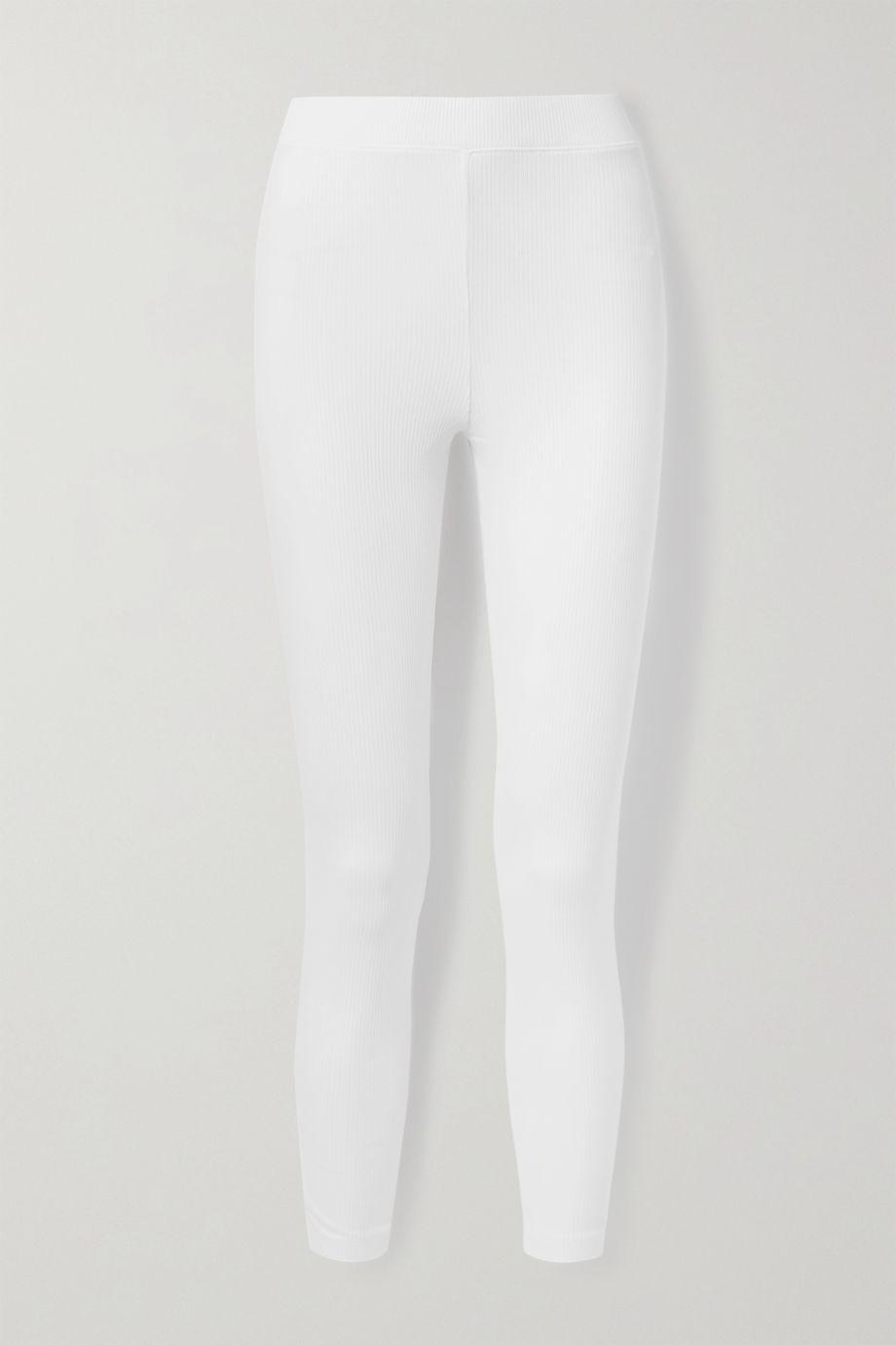Skin Ilanit ribbed stretch-Pima cotton-jersey leggings