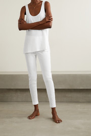 Skin Ilanit ribbed stretch-Pima cotton-jersey leggings