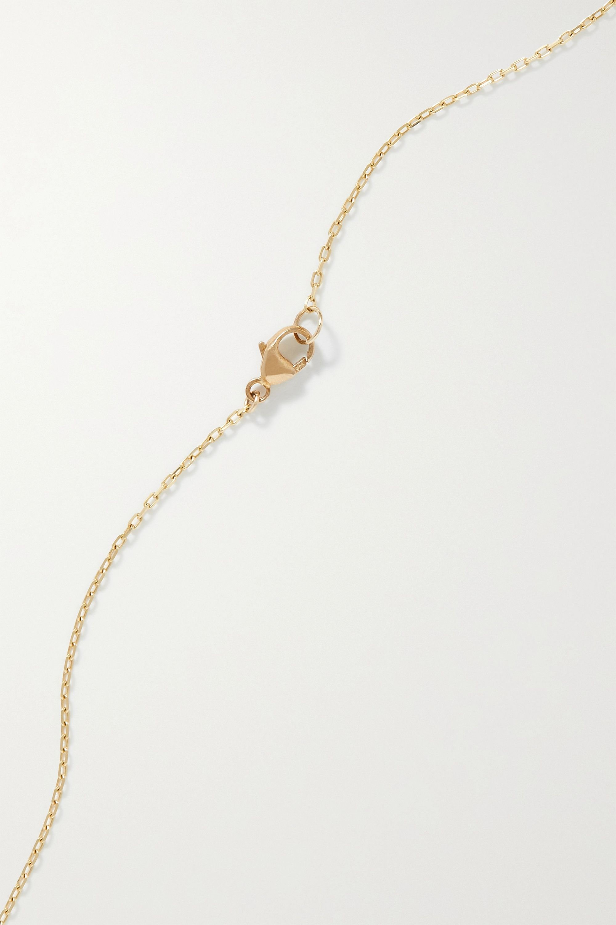 JIA JIA 14-karat gold, quartz and diamond necklace