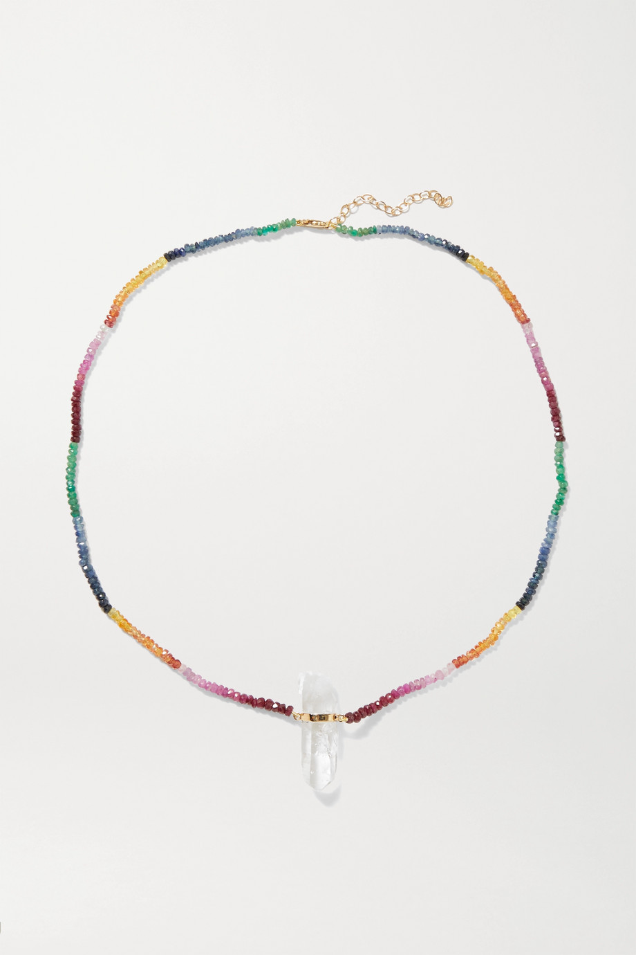 JIA JIA 14-karat gold, sapphire and quartz necklace