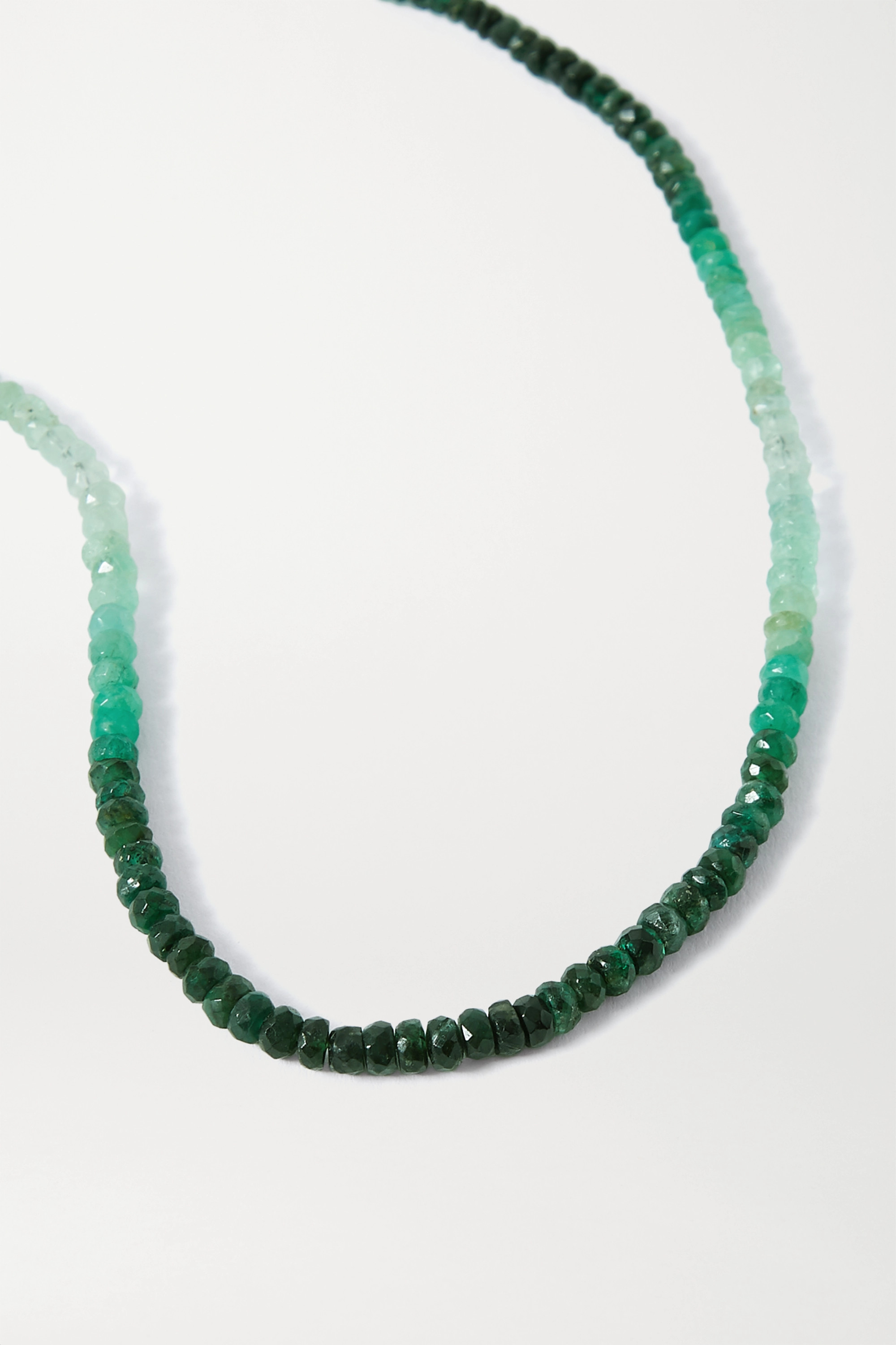 JIA JIA Gold emerald necklace