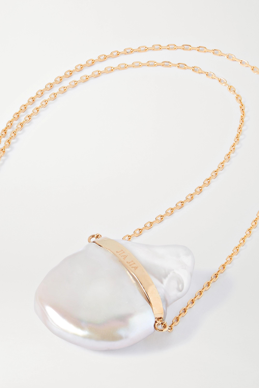 JIA JIA 14-karat gold pearl necklace