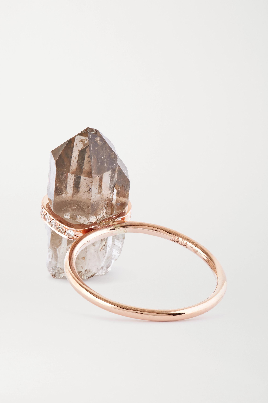 JIA JIA 14-karat rose gold, quartz and diamond ring
