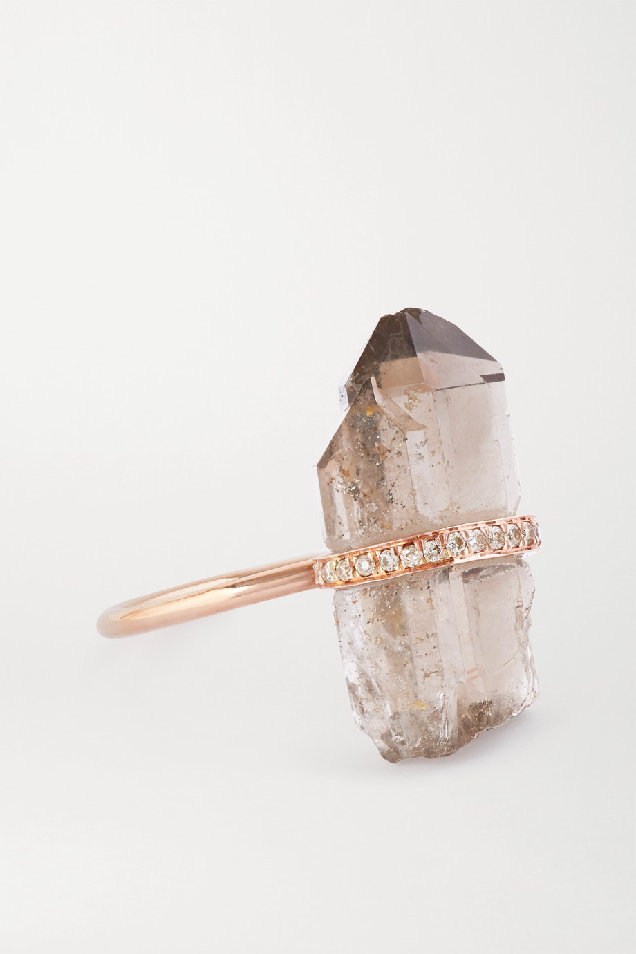 JIA JIA 14-karat rose gold, quartz and diamond ring