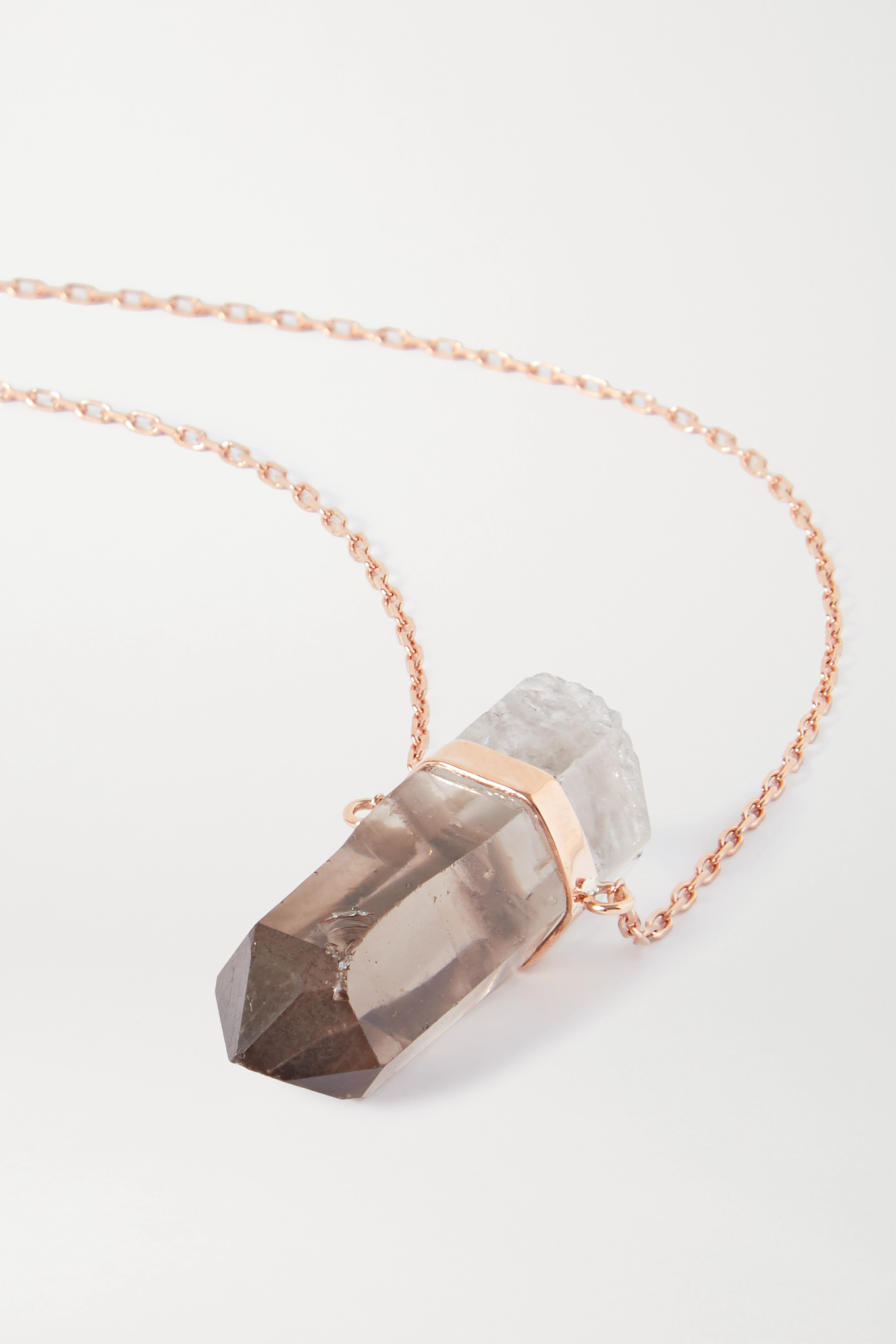 JIA JIA 14-karat rose gold quartz necklace