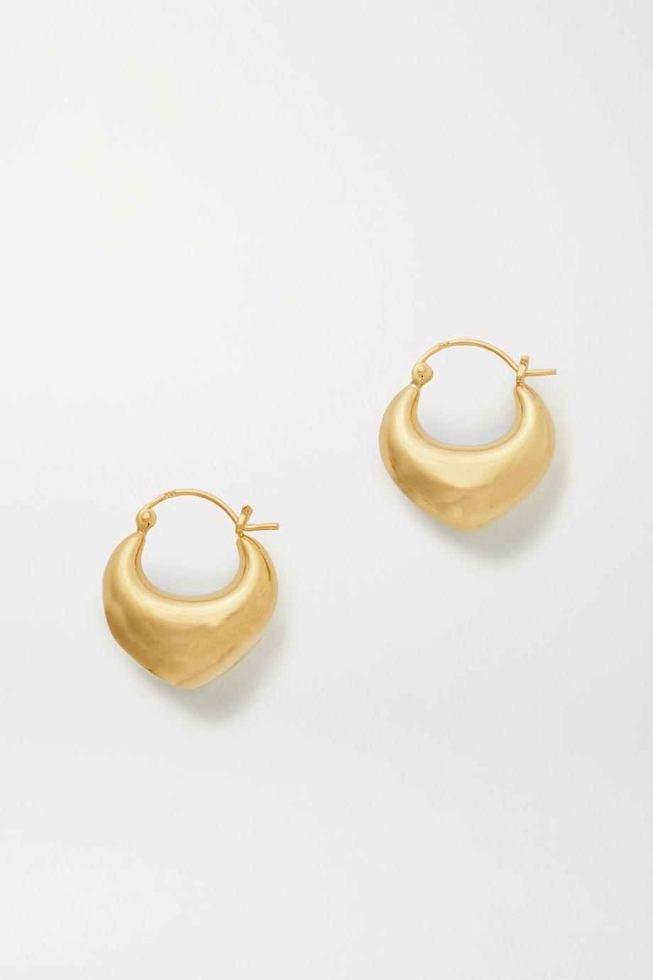 Sophie Buhai Venetia gold vermeil hoop earrings