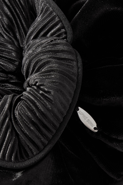 Sophie Buhai Germain Haargummi aus plissiertem Chiffon und Samt