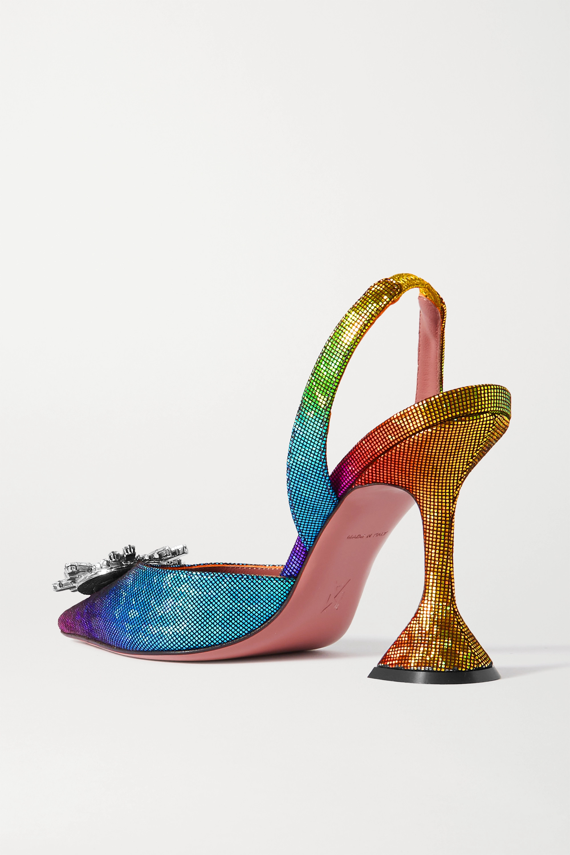 Amina Muaddi Begum Swarovski crystal-embellished lamé slingback pumps
