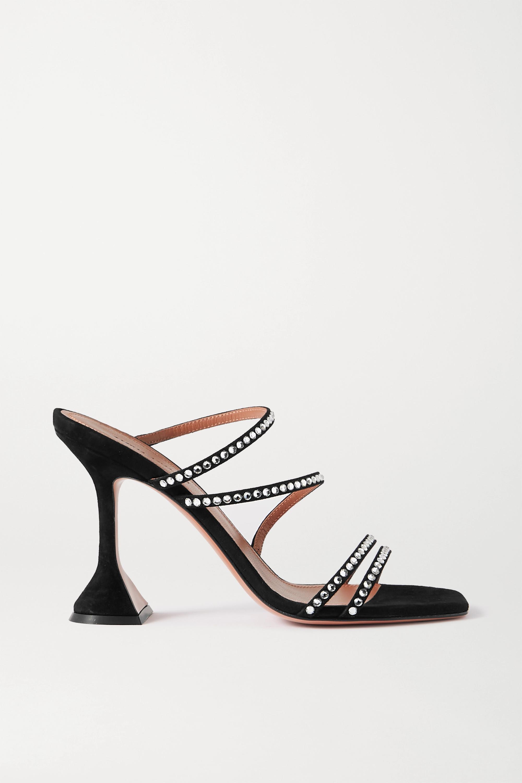 Amina Muaddi Naima crystal-embellished suede sandals