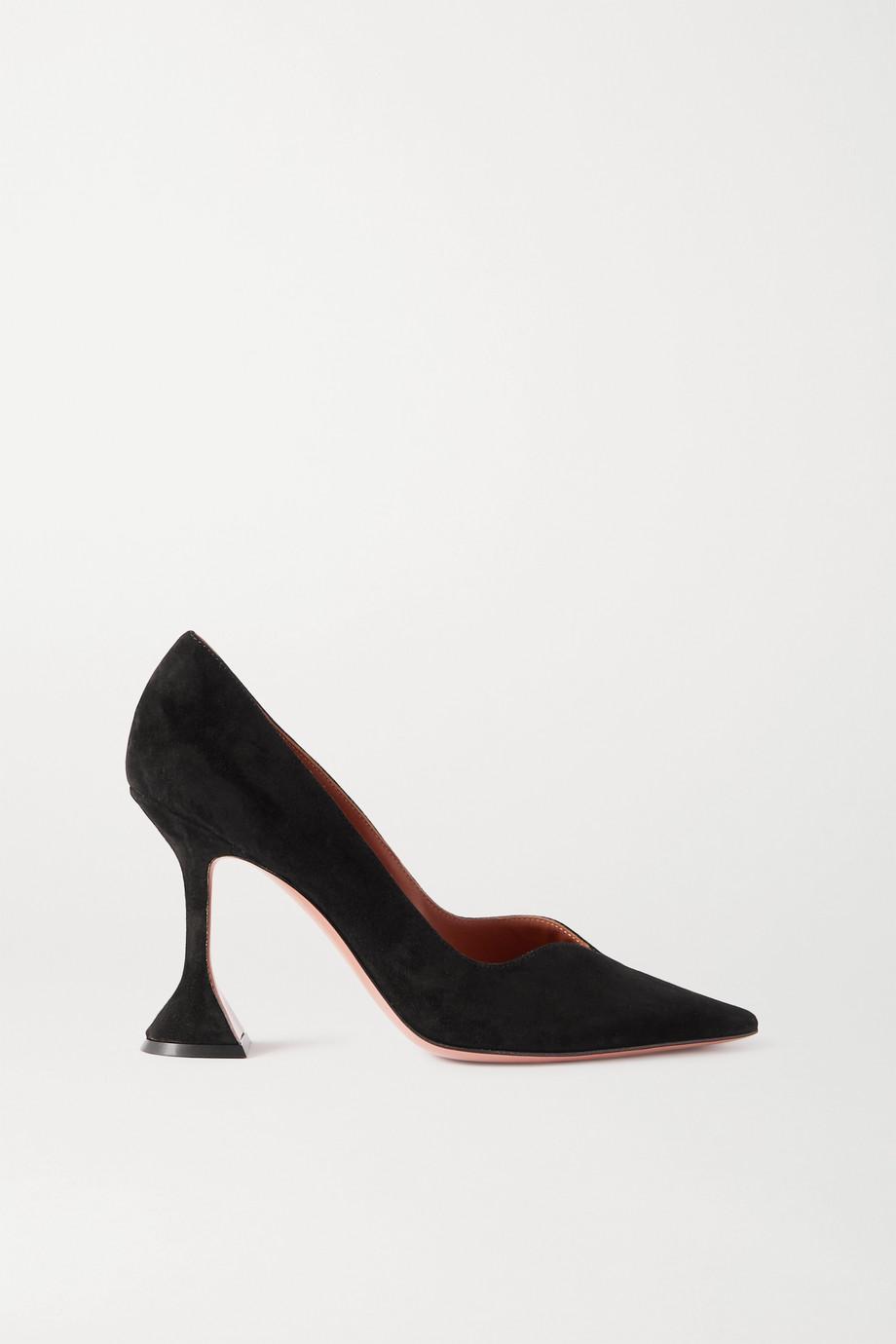 Amina Muaddi Georgia 绒面革高跟鞋