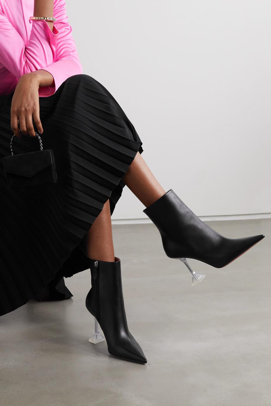 Amina Muaddi Giorgia leather ankle boots