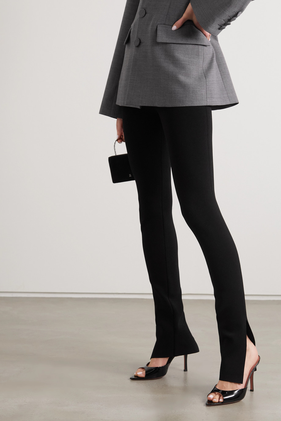 Amina Muaddi Caroline patent-leather mules