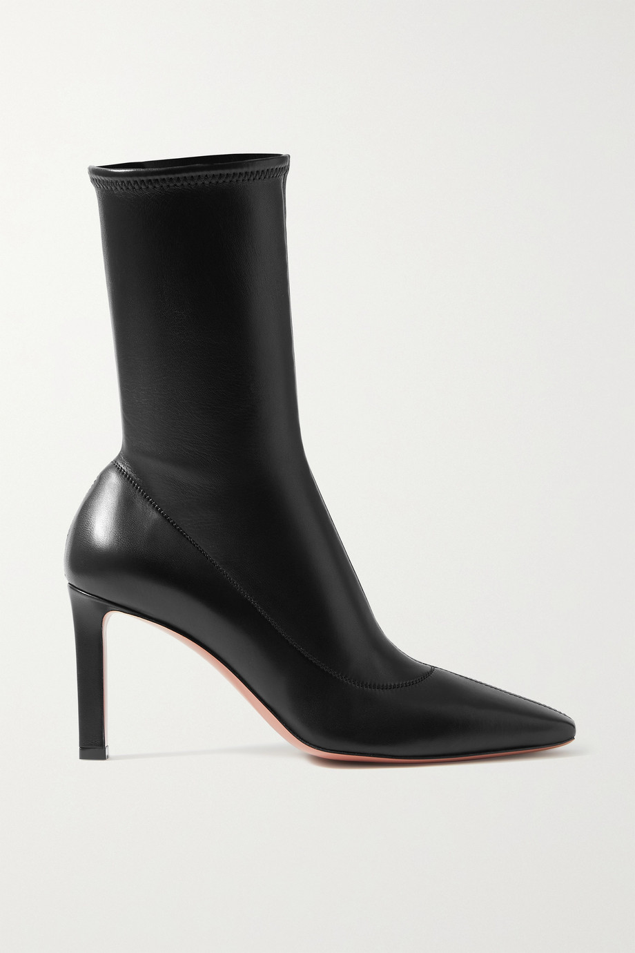 Amina Muaddi Hannah leather ankle boots
