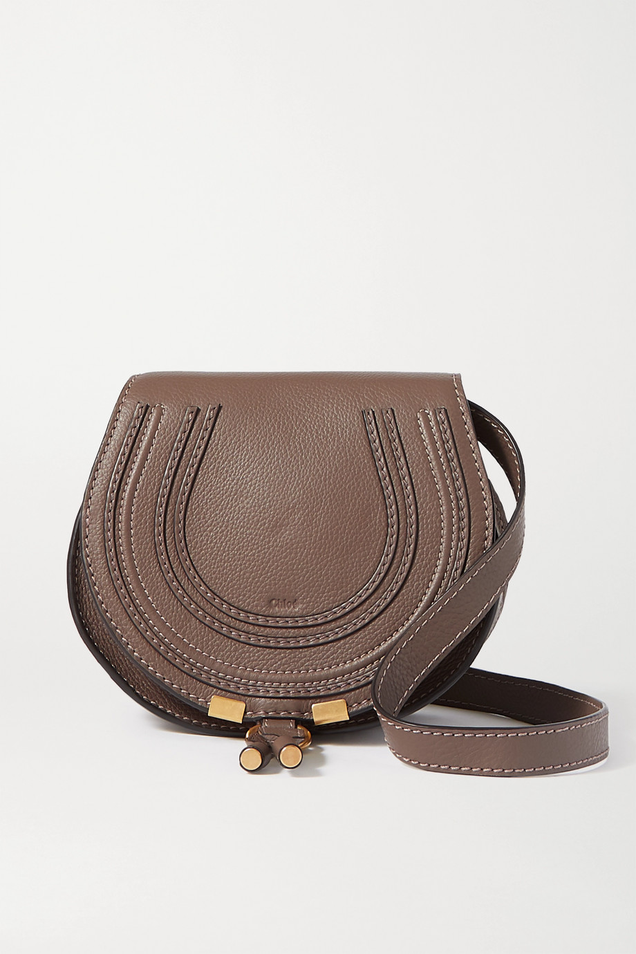 Chloé Marcie mini textured-leather shoulder bag