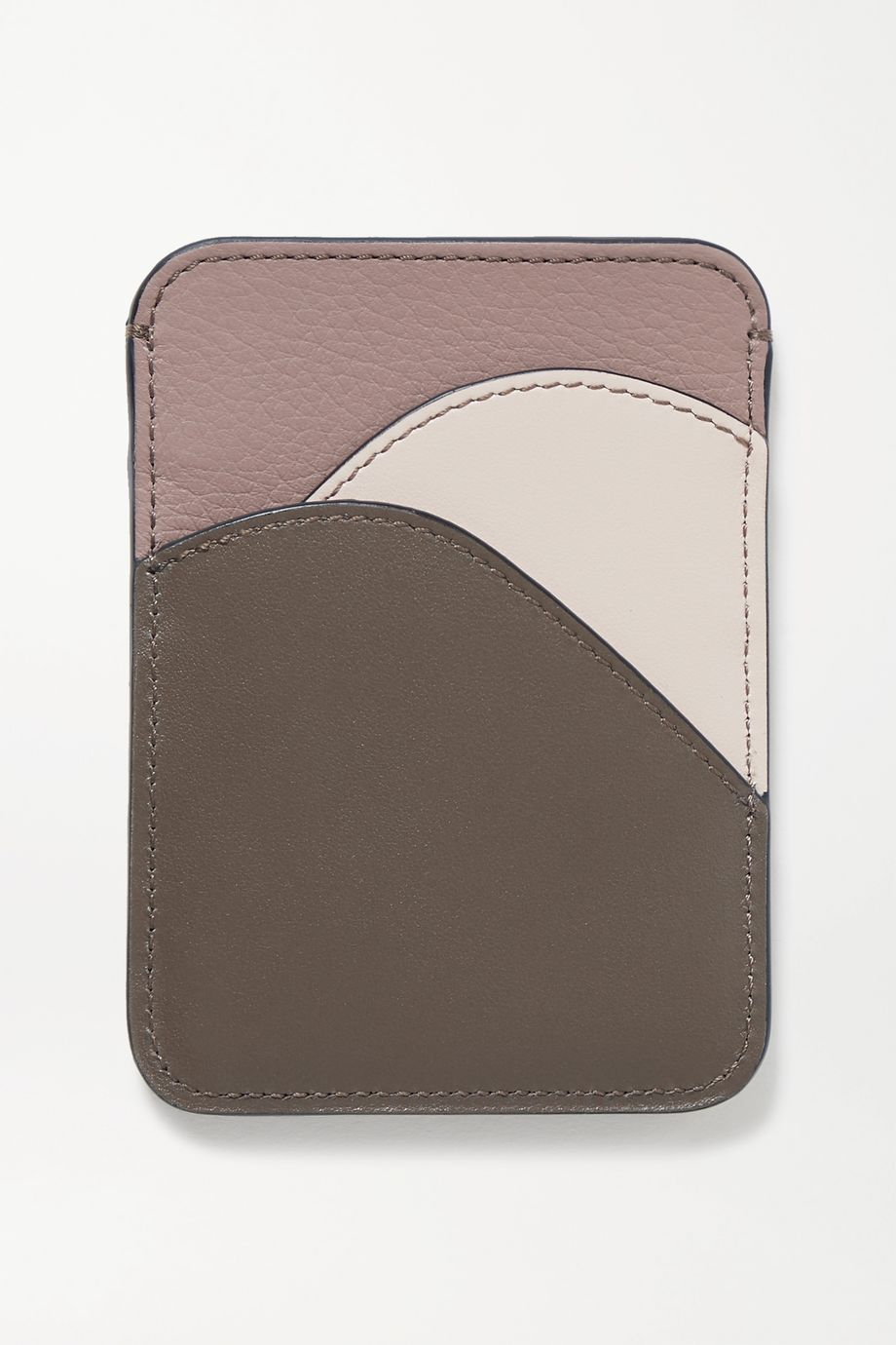 Chloé Walden color-block leather cardholder