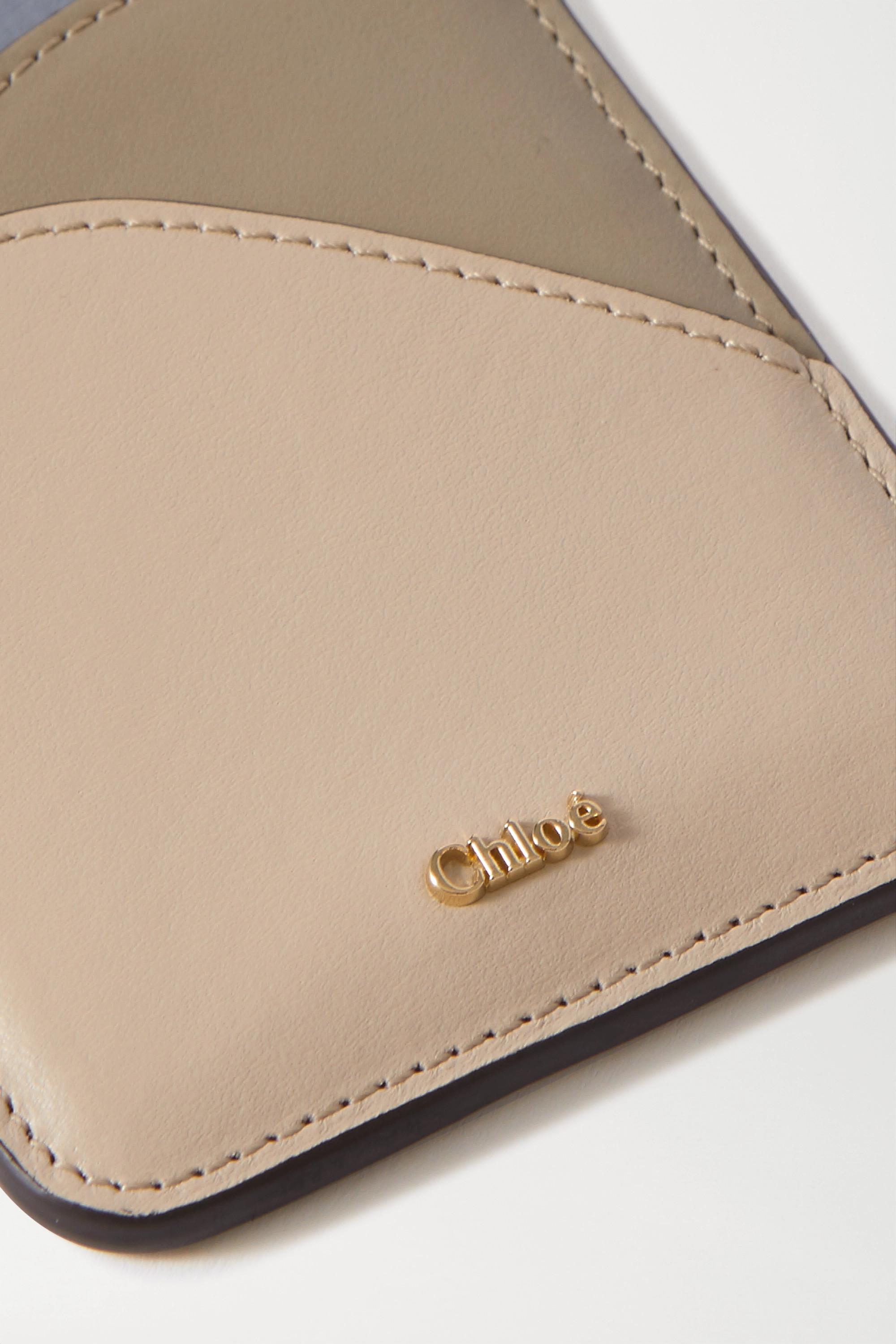 Chloé Walden color-block leather cardholder