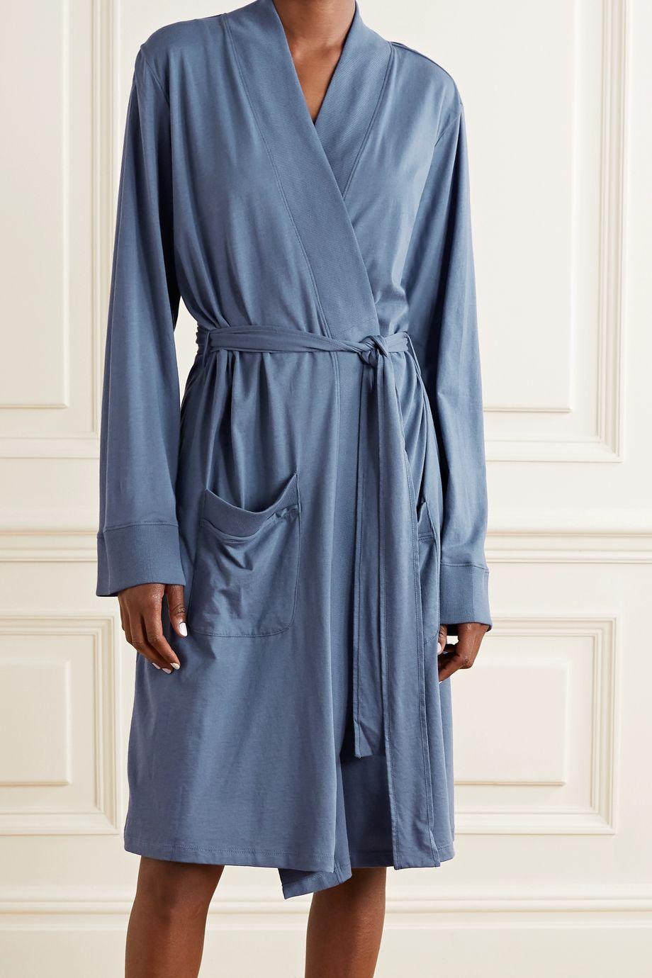 Skin Odiana Pima cotton-jersey robe