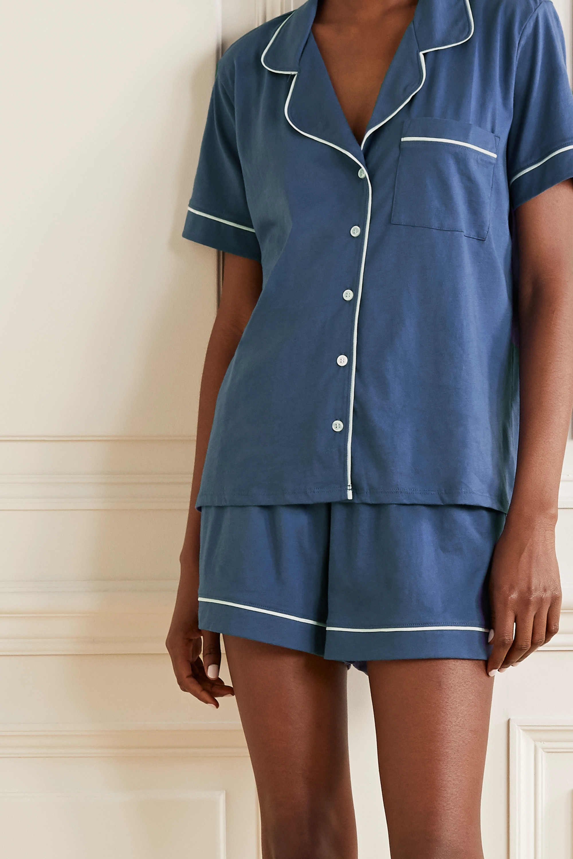 Skin Pima cotton-jersey pajama set