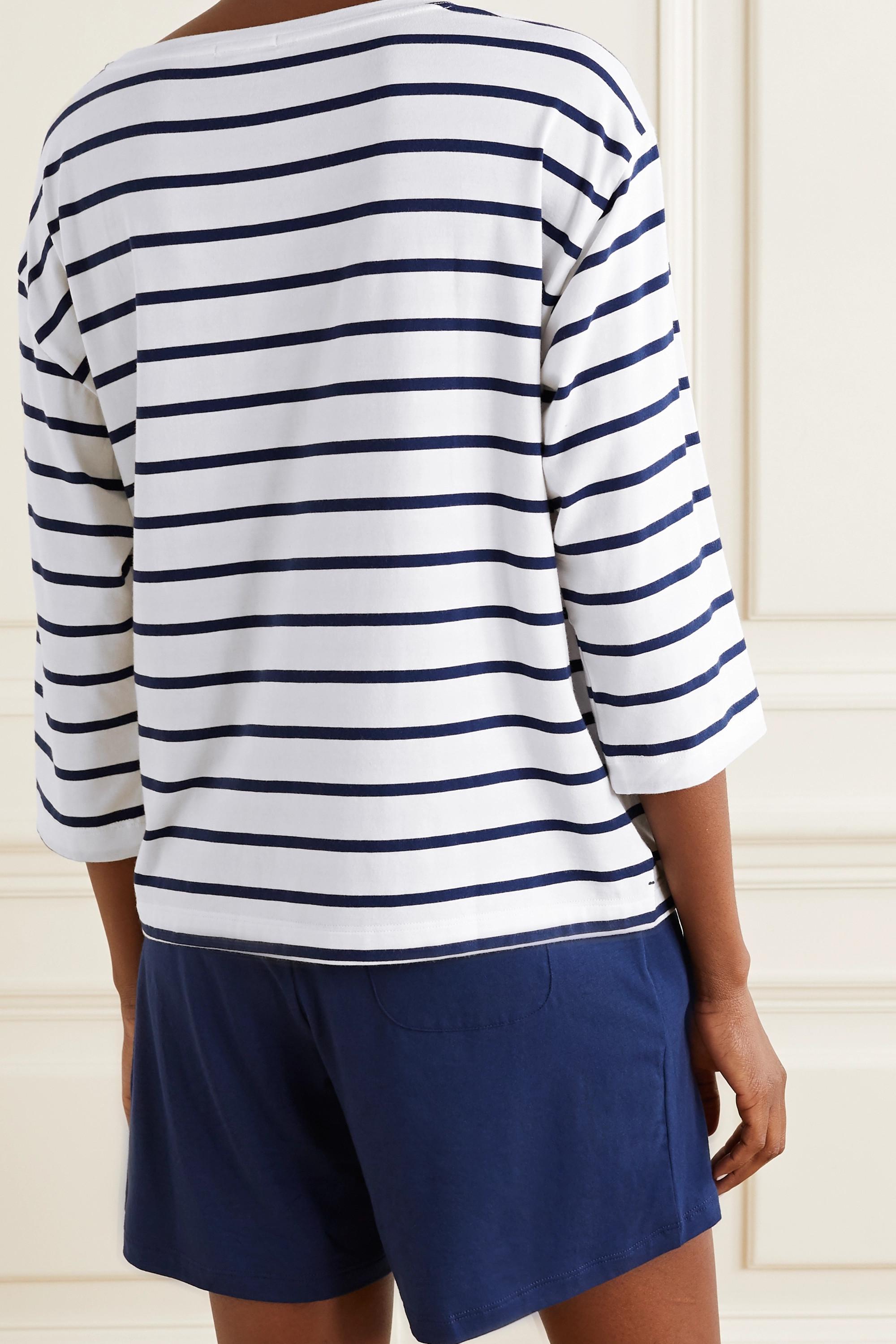 Skin Mathilde striped stretch-jersey top
