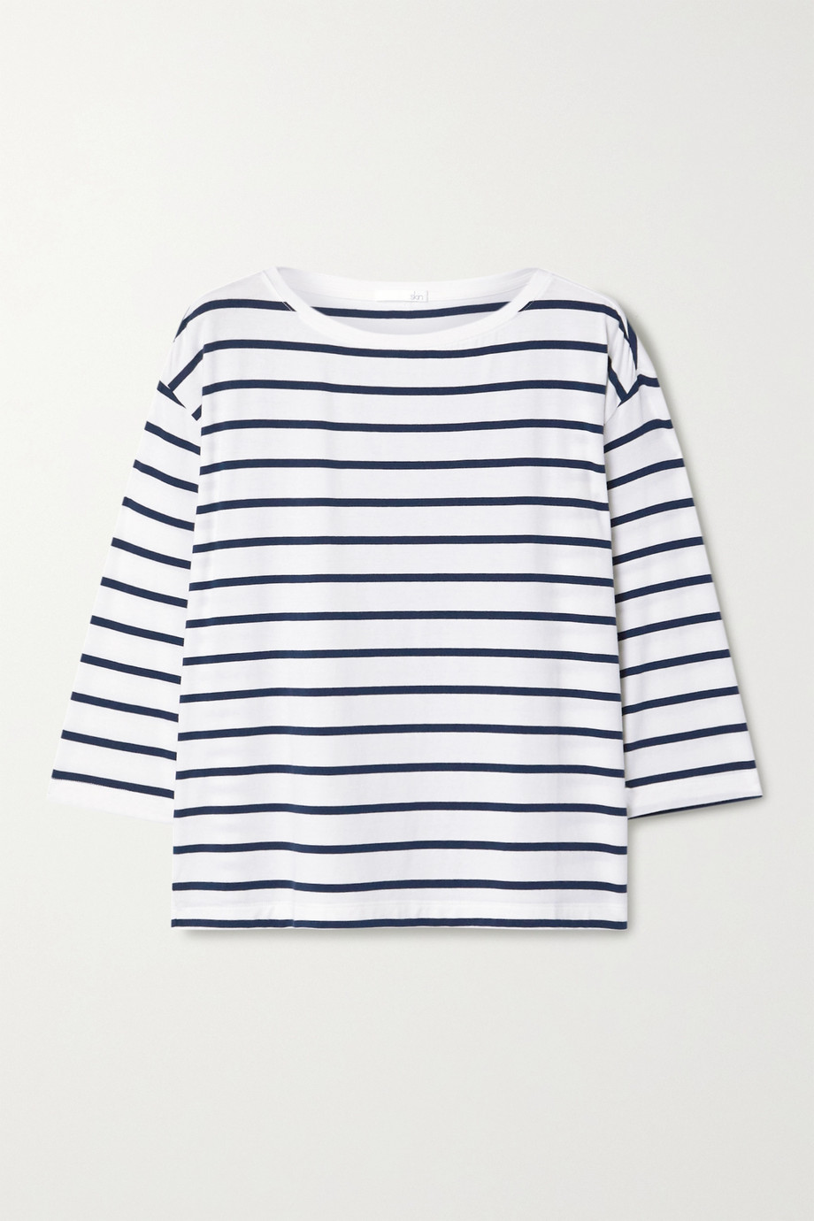 Skin Mathilde striped stretch-jersey top