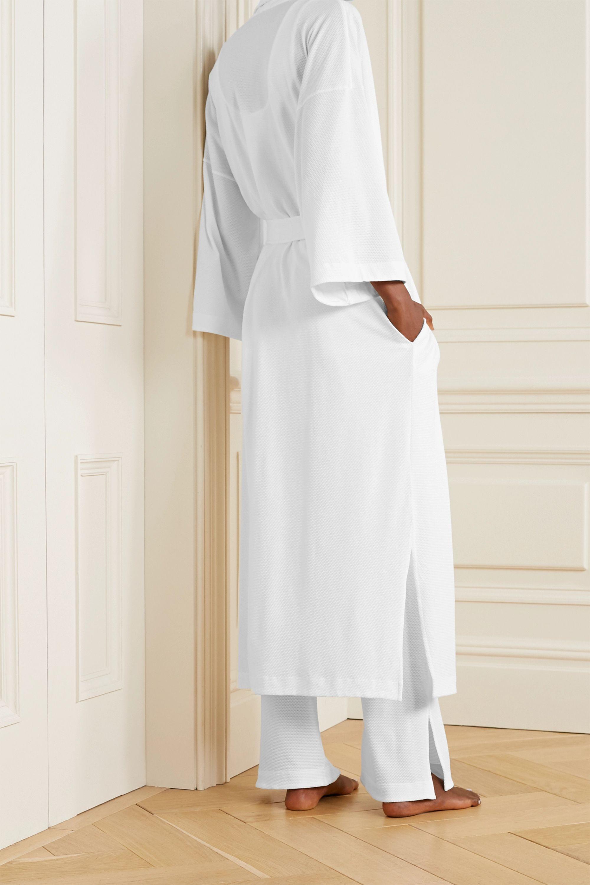 Skin Lydia Morgenmantel aus strukturierter Pima-Baumwolle