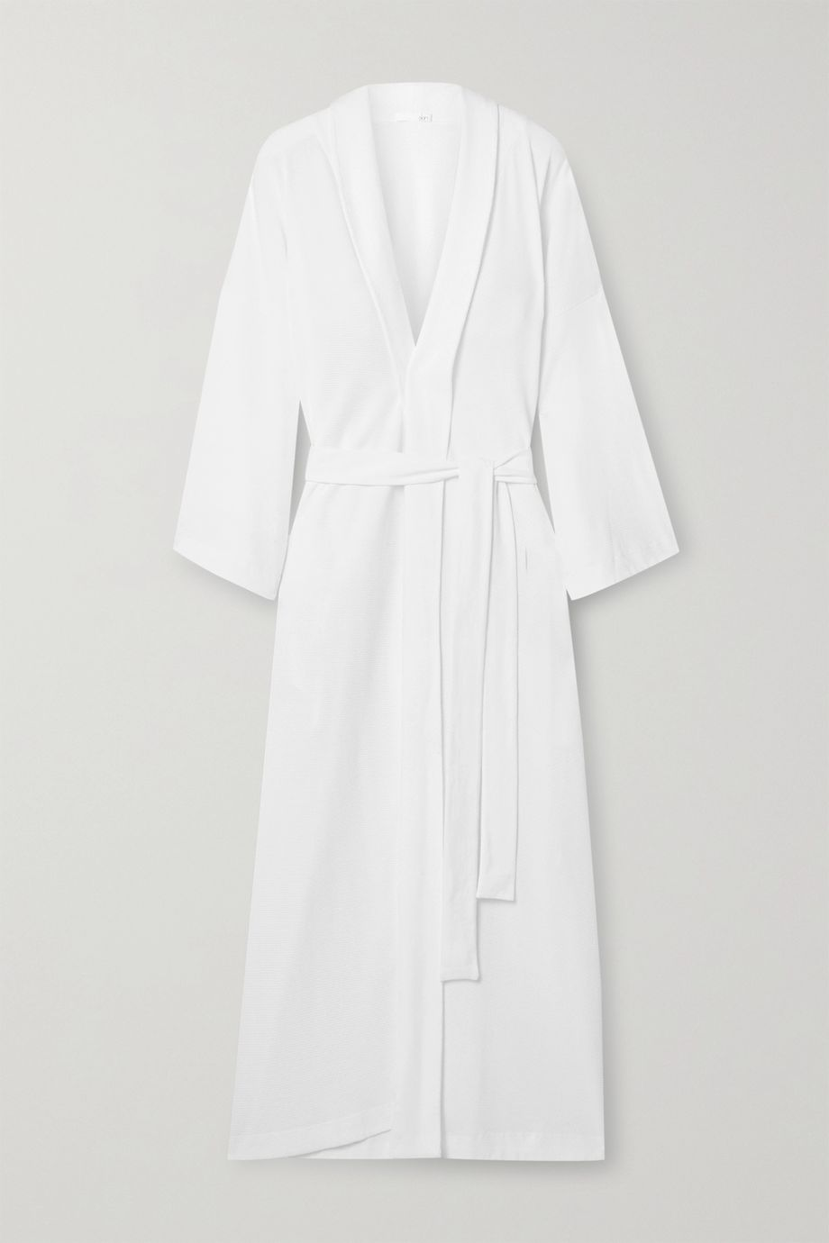 Skin Lydia textured Pima cotton robe