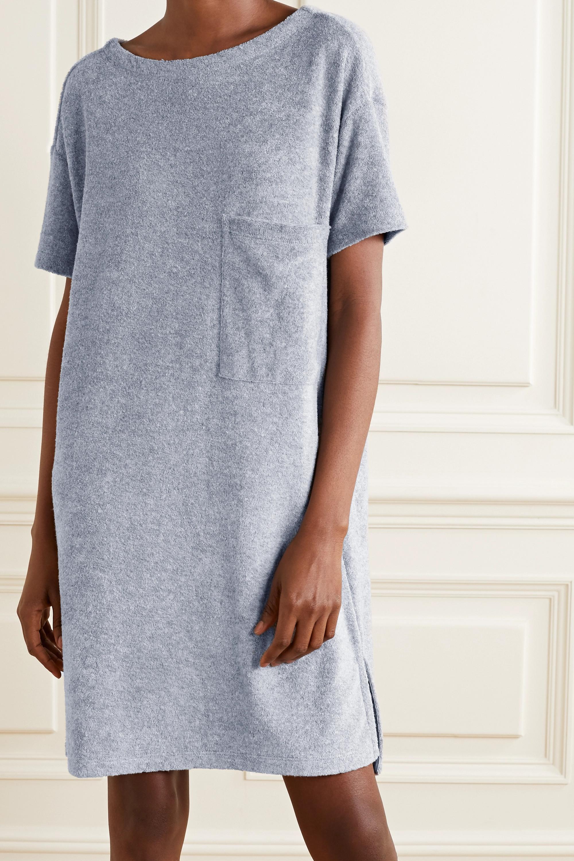Skin Yael cotton-blend terry nightdress